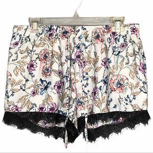 Japna Lounge fringed sleep shorts size large
